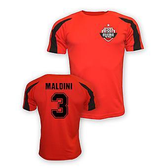 Paolo Maldini Ac Milan deportes entrenamiento camiseta (rojo)