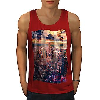 Landscape Photo New York Men RedTank Top | Wellcoda