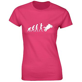 Bikes Motorbikes Evo Evolution Womens T-Shirt 8 Colours (8-20) by swagwear