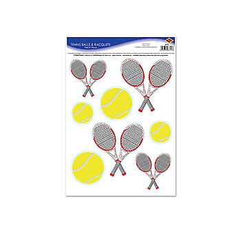 "Tennisballen & rackets Peel 'N plaats 12 ""x 17"""