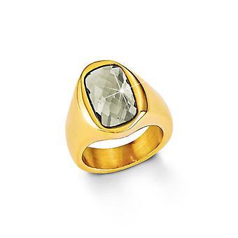 s. Oliver ladies di gioiello anello argento oro SO1166