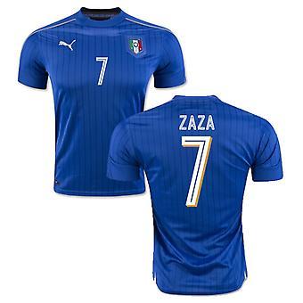 2016-2017年イタリア プーマ ホーム シャツ (ザザ 7)