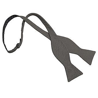 Mørk oliven Hopsack linned Thistle selv binde Bow Tie