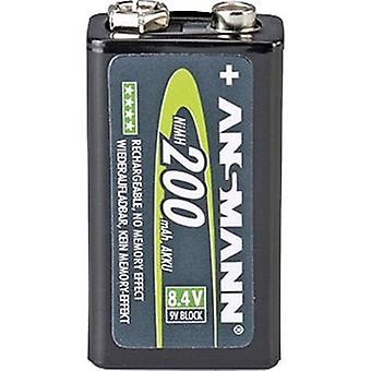 Ansmann maxE 6LR61 9 V / PP3 battery (rechargeable) NiMH 200 mAh 8.4 V 1 pc(s)