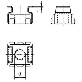 TOOLCRAFT 521810 kooi moeren M5 staal 10 PC('s)