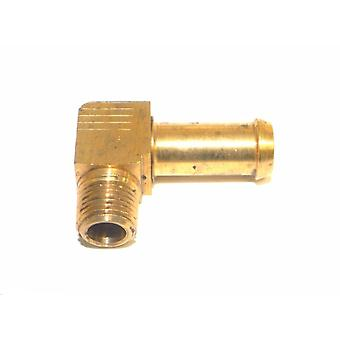 "Big A Service Line 3-83126 Brass 1/8"" Thread x 3/8"" Metal Barbed Tube Fitting"