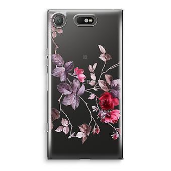 Sony Xperia XZ1 Compact Transparant cas (doux) - jolies fleurs