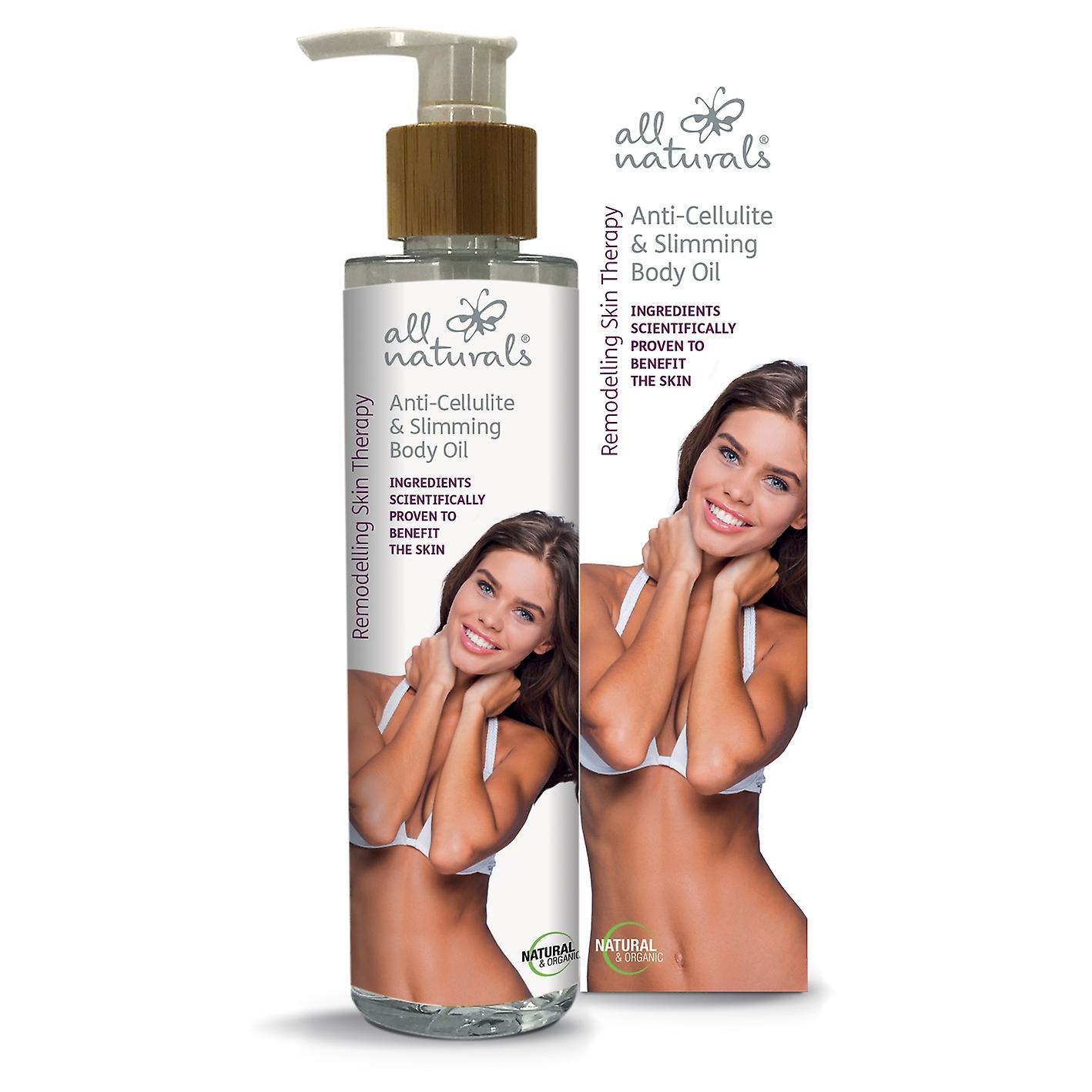 Anti-cellulite & slankende økologisk kropsolie. Ombygning hud terapi. 200ml