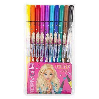 Top Model 10 Pack Of Fineliner Pens