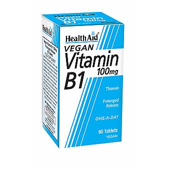 Health Aid Vitamin B1 (Thiamin) 100mg - Prolonged Release, 90 Tablets