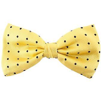 נייטסברידג ללבוש כתמים משי קשת עניבה-צהוב/שחור