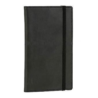 David Van Hagen Leather Pocket bloc-notes Notepad - noir