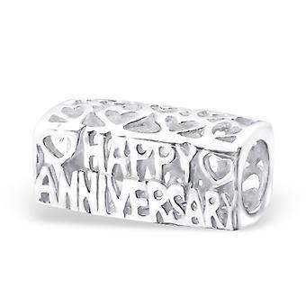 Herzlichen Glückwunsch - 925 Sterling Silber Plain Beads - W22699x