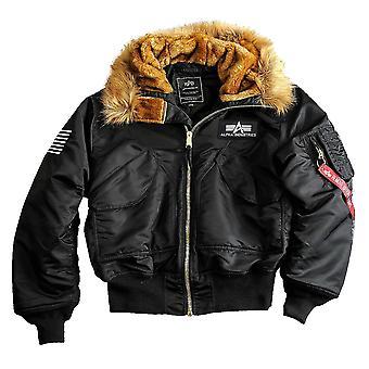 Alpha industries men's winter jacket 45 P hooded custom