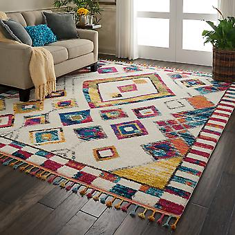 Nomad Nourison NMD02 Ivory Multi  Rectangle Rugs Traditional Rugs