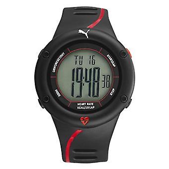 PUMA men's Quartz digital watch with plastic Strap PU911361002