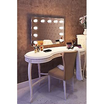 Diamond X Wallmount Hollywood Makeup Mirror with Dimmable LED k95WW