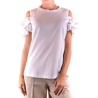 Brunello Cucinelli Ezbc002015 Women's White Cotton Top