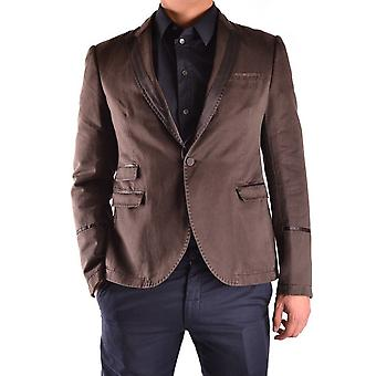 Neil Barrett Ezbc058001 Men's Brown Cotton Blazer