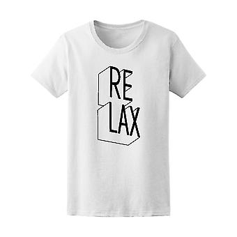 """Relax"" Quote Tee Men's -Image by Shutterstock"