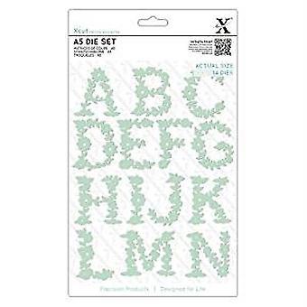 Xcut Dies (14pcs) - Floral Alphabet A-N (XCU 503058)