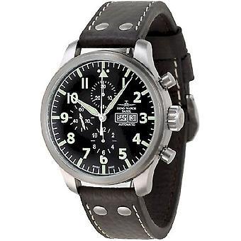 Zeno-watch mens watch oversized pilot oversized Chrono Navigator 8557TVDDN-a1