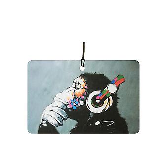 Banksy DJ Monkey Car Air Freshener