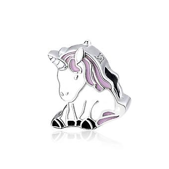 Charm in argento Sterling fortunato unicorno