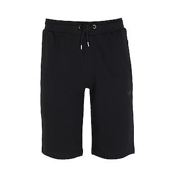 Emporio Armani schwarzer Baumwolle Mischung Sweat Shorts