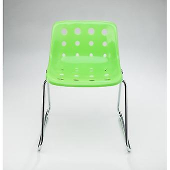 Loft Robin Day Sled Green Plastic Polo Chair
