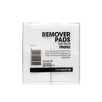 Salon System Profile Professional Gel Nail Treatments - Lint Free Remover Pads (330 Pieces) (0212117)