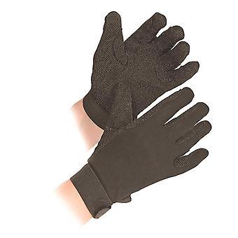 Shires Newbury volwassenen katoenen handschoenen-zwart
