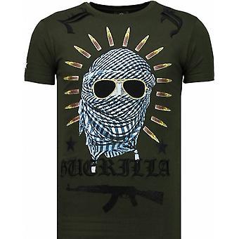 Freedom Fighter-Rhinestone T-shirt-vert