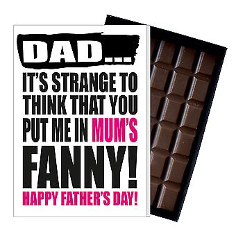 Funny Father's Day Gift Silly Chocolate Present Rude Card For Dad DADIYF105