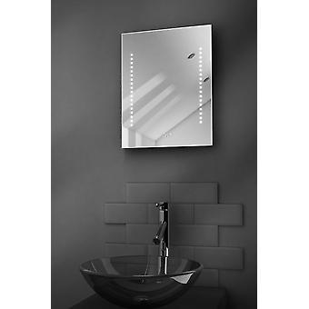 Diamant Ultra-Slim badkamer spiegel met klok, ontwasemer & Sensor k188