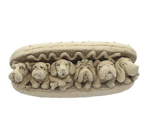 Hot Dogs Cast Stone Decoration in Gift Box