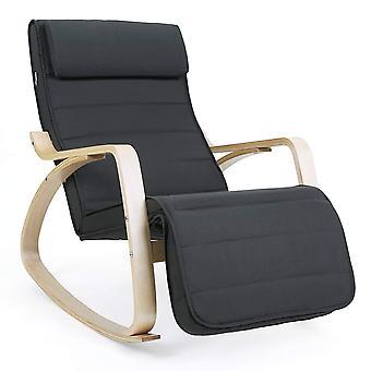 Schommelstoel met verstelbare voetensteun - 4 kleuropties