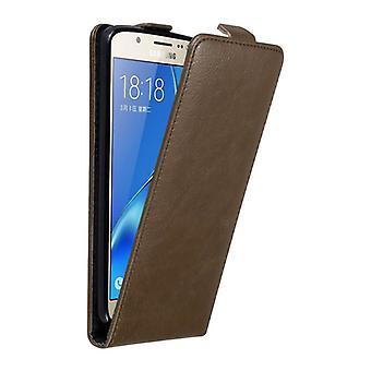 Cadorabo Hülle für Samsung Galaxy J7 2016 Case Cover - Handyhülle im Flip Design mit Magnetverschluss - Case Cover Schutzhülle Etui Tasche Book Klapp Style