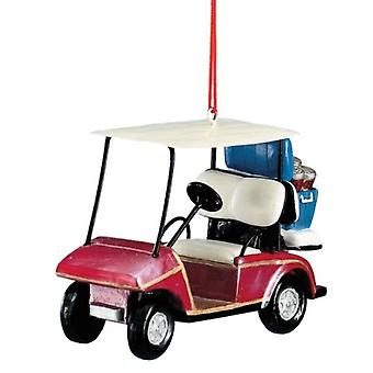 Golf Cart with Cooler Filled with Beer 6 Pack Christmas Holiday Ornament
