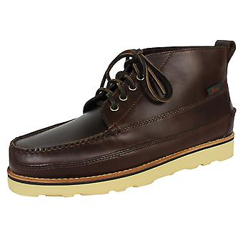 G. h. bass & co. camp moc iii ranger pull up men's chocolate leather boots