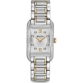 Bulova 98R227 Women's Silver Tone Dial Diamond Wristwatch