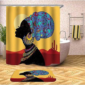 Tenda tradizionale della doccia da signora africana