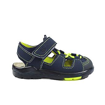 Ricosta Gery 3323100-171 Navy/Lime Boys Closed Toe Sandals
