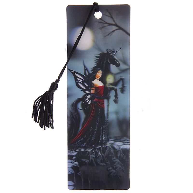 Fairy Standing with Unicorn 3D Bookmark by Lisa Parker