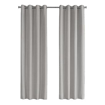 """52"""" x 95"""" Silver, Solid Blackout - Curtain Panel 2pcs"""