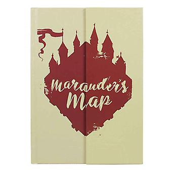 Harry Potter Notebook Marauders Map Glow in the Dark Logo new Official A5
