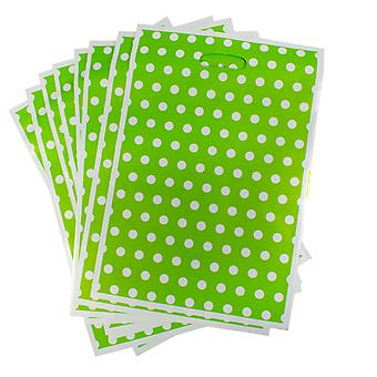 TRIXES 32 x 22cm Party Loot Bags 8 Pack Green