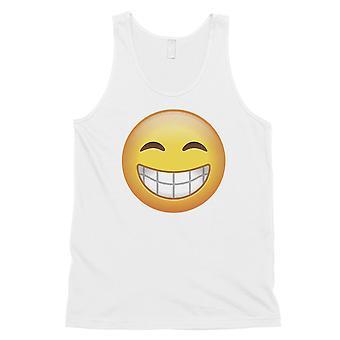 Emoji-hymyilevä Mens valkoinen jännittävä hämmästyttävä täydellinen säiliö alkuun gag lahja