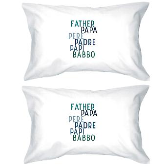 Dad Different Languages Fun Pillowcases Standard Size Pillow Covers