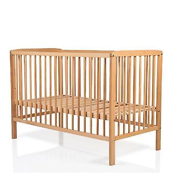 Cangaroo cot wooden beech, 3 height positions of mattress, 3 rods removable